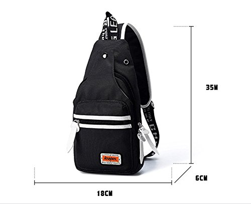 Ohmais Rücksack Rucksäcke Rucksack Backpack Daypack Schulranzen Schulrucksack Wanderrucksack Schultasche Rucksack für Schülerin schwarz