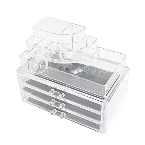 KurtzyTM Acryl Schminktisch Aussteller Aufbewahrung transparent Schönheit Kunststoff Schubladen Make-Up