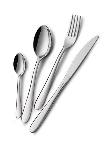 Eme posaterie segno - set di posate da tavola in acciaio inox 18/10, per 6 persone, 24 pezzi