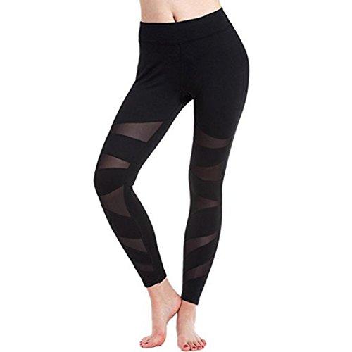 Longra Femmes Engrener Panneaux Yoga sport pantalon (S)