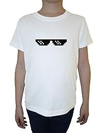 Matón Vida Acuerdo Con Eso Gafas Niño Niños Camiseta Cuello Redondo Blanco Algodón Manga Corta Boys Kids T-shirt White