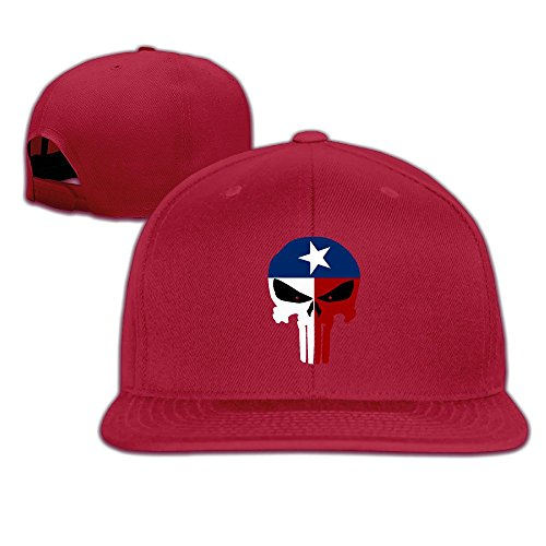 JAX D Unisex Texas Flagge Totenkopf Snapback Baseball caphat schwarz, unisex, rot
