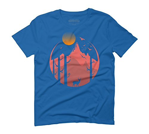 nature (afternoon) Men's Graphic T-Shirt - Design By Humans Royal Blue
