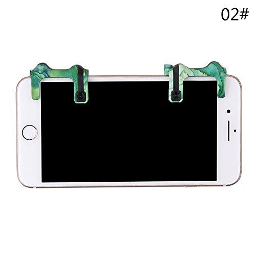Mobile Camo (oobest 1Paar Controller Spiel-Mobile Camo-Knopf-Auslöser Auslöser Gamepad Telefon Sucher L1R1pubg V2.0Controller de TIR-fut1)