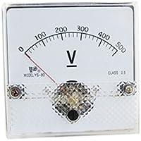 DealMux Fine Tuning Dial Analog Tensão Painel voltímetro, DC, 500V