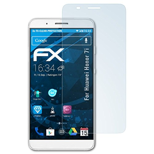 atFolix Schutzfolie kompatibel mit Huawei Honor 7i / ShotX Folie, ultraklare FX Bildschirmschutzfolie (3X)