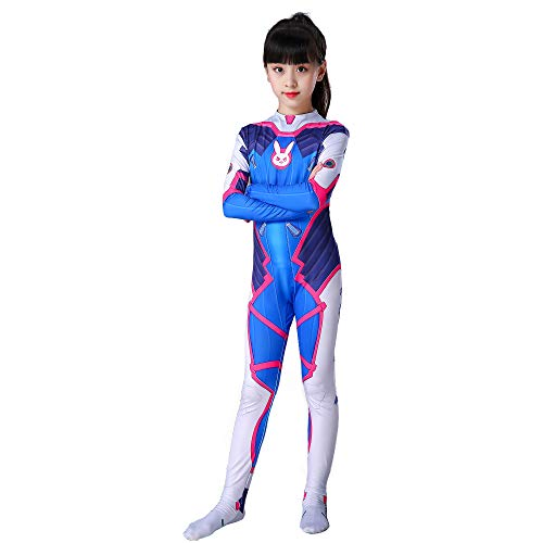 Anzug Mech Kostüm - YXRL Anime Cosplay Kostüme Erwachsene Kinder Overall Body Lycra Spandex Zentai Halloween Cosplay Kostüme Women Blue-XL