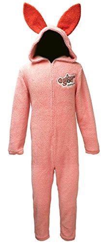 A Christmas Story Herren Pyjama mit Hasenmotiv, Rosa - Pink - Groß (Christmas A Story-pyjama)