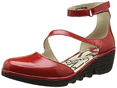 Fly London Damen PLAN717FLY Pumps, Rot (Red 012), 36 EU
