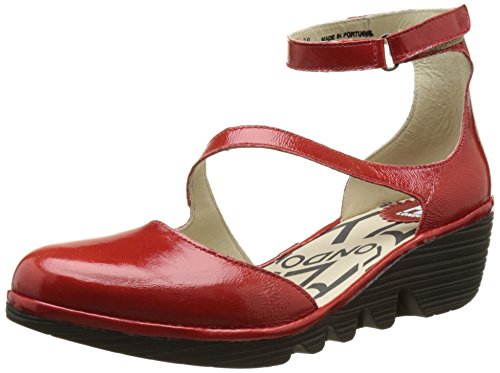 FLY London Plan717, Escarpins Femme Rouge (Red 012)