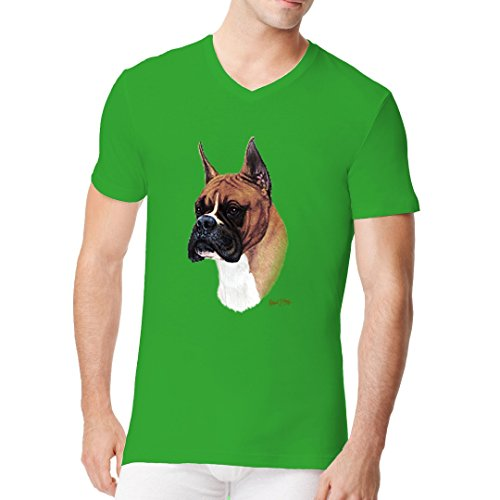 Im-Shirt - T-Shirt - Motiv : Boxer cooles Fun Men V-Neck - verschiedene Farben Kelly Green