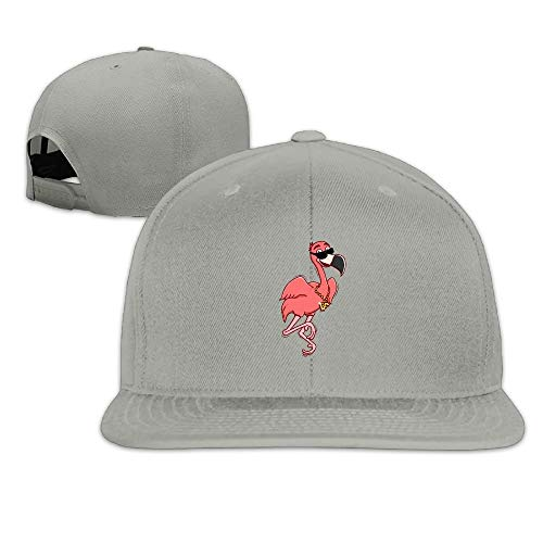 Cool Flamingo with Sunglasses Washed Unisex Flat Bill Visor Hip-Hop Hat