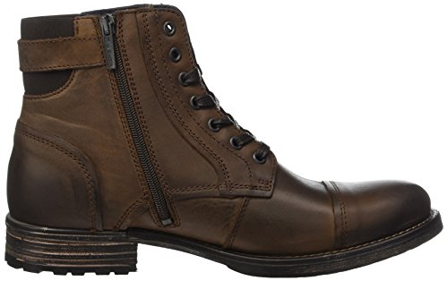 Marc O'Polo Herren Bootie Combat Boots, Braun (Mocca), 44 EU - 6