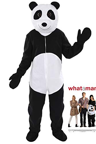 Bär Schwarzer Frauen Kostüm - Panda Bär Einheitsgrösse XXXL - XXXXL Super Size Kostüm für Personen bis 2,0 Meter Grösse Fasching Fastnacht