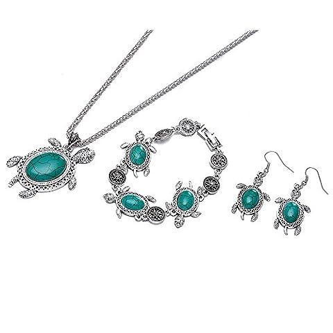 Collier Tortue - YAZILIND bijoux ensemble en alliage de zinc