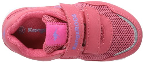 Kangaroos Lasic, Baskets mode mixte bébé Rose - Pink (plastic pink/viola 665)