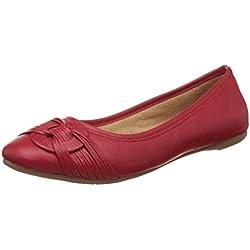 BATA Women's Rebecca Red Ballet Flats