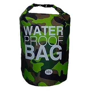 AiO-S - OK Drybag 30L Tasche Packsack Water Proof 30 Liter wasserdicht Camouflage grün Softcase