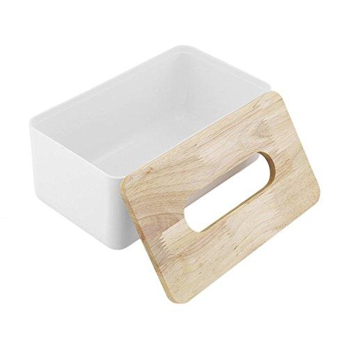UniqueHeart PP Eiche Holz Tissue Box Home Office Auto Container Veranstalter Dekoration Für Abnehmbare Gewebe Einfache Rechteck Form (Home Box Office)