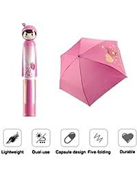 CONNECTWIDE® Folding Umbrella Creative Doll Style Shape Mini Compact Foldable Design Travel/Folding/Portable Umbrella...
