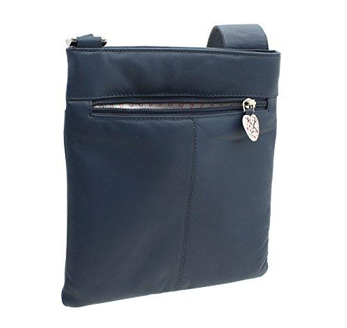 Morbida Borsa Grigio Pelle 731 Postino Collezione 30 Leather marino Blu Tracolla in Mala LUCY 0rPZ0x