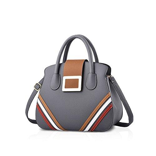 Nicole & Doris New Handbag Donna Tracolla Donna Tracolla Messenger Bag Pu Vino Rosso Grigio