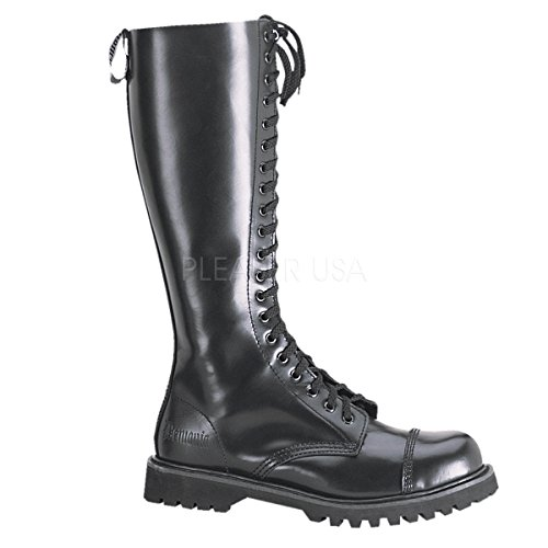 Demonia Rocky-20 - gothic punk industrial leather ranger boots shoes 3,5-12