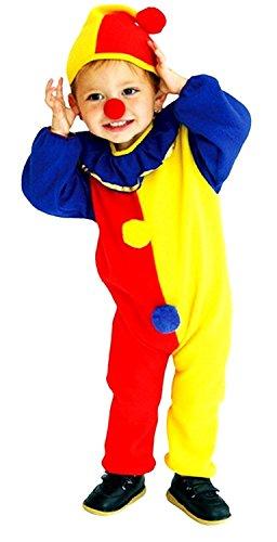 Jahre - Kostüm Verkleidung Karneval und Halloween von Clown von Zirkus Farbe Gelb Unisex Kinder (Zirkus Figuren Kostüme Für Kinder)