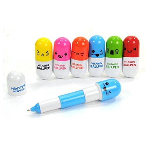Amoy.B Las pastillas son pequeñas y flexibles, fáciles de llevar, interesantes, con bolígrafo * 18