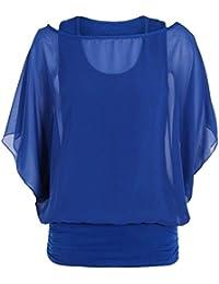 MIXLOT Sexy Damen Damen über Größe 2 in 1 Damen Bluse Batwing Party Kleid tragen Tops Kleid Größe 8-22