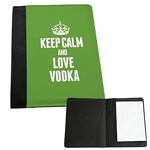 Grün Keep Calm und Love Wodka Medium Notizblock 1647 (Grün Wodka)