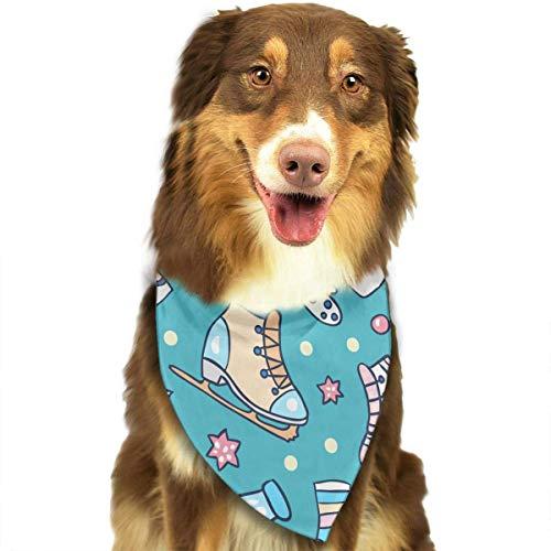 Rghkjlp Dogs Bandana Collars Roller Skates Pets Triangle Neckerchief Puppy Bibs Scarfs Cats Scarfs Towel