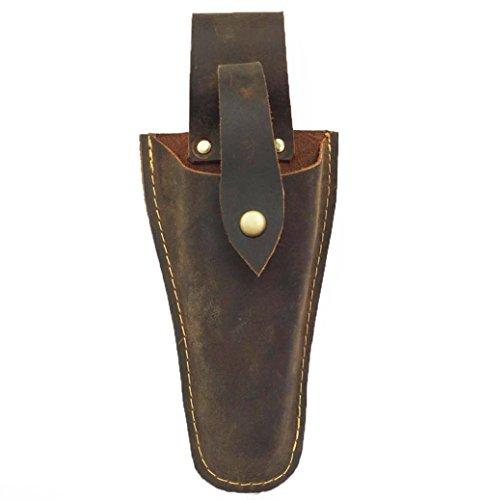 Leder-Etui für Scheren oder Zangen, Werkzeughalter für den Gürtel, Tasche für Zangen, Gartenschere, Schere oder Gartenmesser (HSZ-20), bronze
