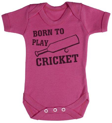 TRS - Born To Play Cricket Body bébé - cadeaux de bébé 18-24 Mois Rose