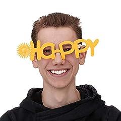 Idea Regalo - Relaxdays Occhiali Divertenti da Festa per Carnevale, Addii al Nubilato e Celibato, Accessorio Simpatico Buffo, con Sole Unisex A partire da 2 anni, Giallo, Unica, 10024247