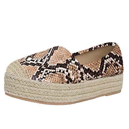 YEARNLY Schuhe Damen Casual Faul Graffiti Loafers Paar runde Zehe Einzelne Schuhe Unisex Leinen Slacker Bootsschuhe Low Top Arbeitsschuhe -
