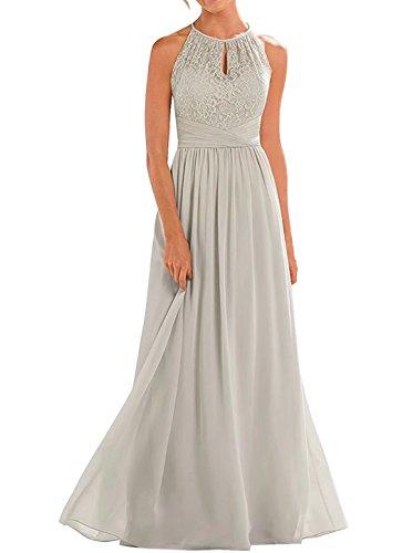 Pastell Brautjungfernkleider (Lilybridal Abendkleider Elegante Kleider Festliche Kleider Spitze A-Linie Chiffon BrautjungferKleider 128)
