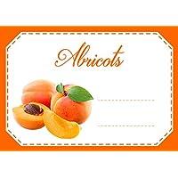 Mon Bio Jardin Juego de 30etiquetas autoadhesivas Abricots para mermelada, compota, conserves casa