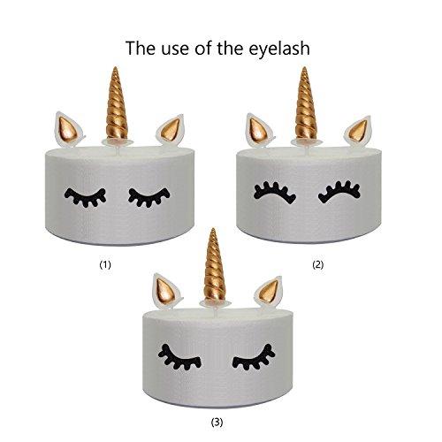 prezzo JXY Set di decorazioni dorate per torta, composto da orecchie, corno e ciglia da unicorno