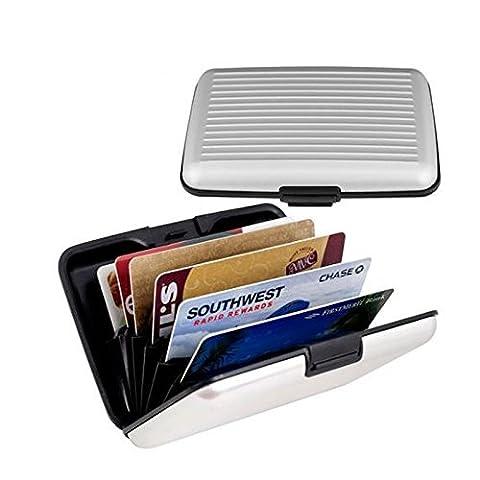 Generic Silber: NEU Wasserdicht Aluminium Business ID Kreditkarte Halter Wallet Pocket Fall Wallet Fall Pocket Geldbörse Aufbewahrungsbox für Herren und