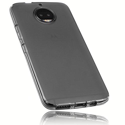 mumbi Schutzhülle für Motorola Moto G5S Plus Hülle transparent schwarz