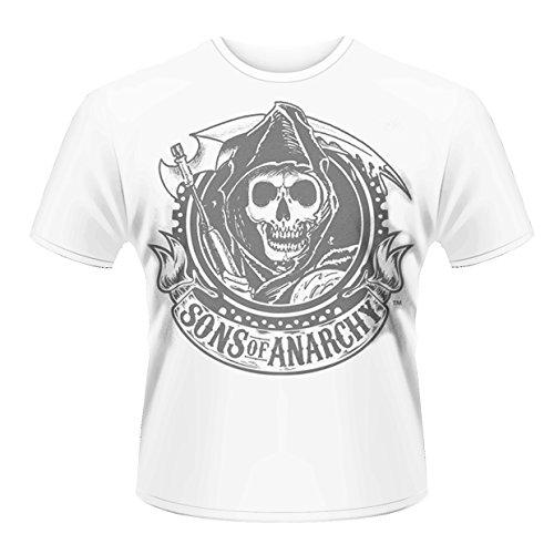 Sons of Anarchy Kunststoff Kopf Reaper Herren T-Shirt Gr. XXL, weiß - weiß