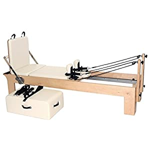 Yogistar Pilates Reformer Ahorn Therapeutic Leg (inkl. Sitting Box Und Jump Board) – Creme