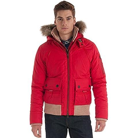 SUPERDRY - Cazadora Hombre New Alpine Bomber, Color, Rojo