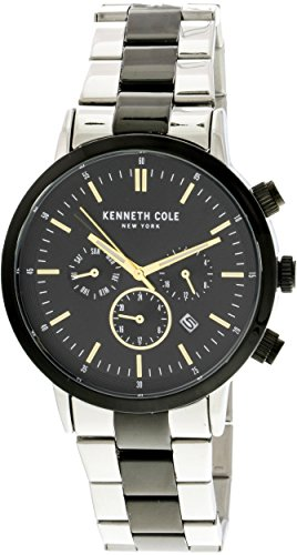 Kenneth Cole Men's KC50228004 Silver Stainless-Steel Japanese Quartz Fashion Watch