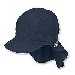 Sterntaler Unisex Schirmmütze mit Nackenschutz, Blau (marine 300), 55 cm