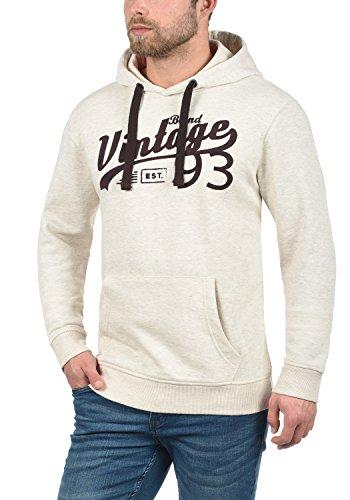 BLEND Vince Herren Kapuzenpullover Hoodie Sweatshirt mit optionalem Teddy-Futter aus hochwertiger Baumwollmischung Meliert Sand Mix (70810)