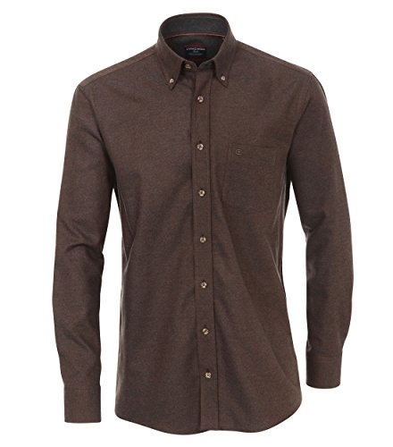 Michaelax-Fashion-Trade - Chemise business - Uni - Col Boutonné - Manches Longues - Homme Braun (200)