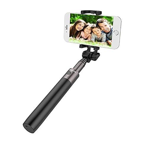 Bâton de Selfie, Lobkin pliable extensible Bluetooth Selfie Stick avec déclencheur à distance intégré pour iPhone 7/7 plus/Se/6 s/6/6 Plus, Samsung Galaxy S7/S6/Edge, Note 5/4, G5 de LG, LG et plus - noir