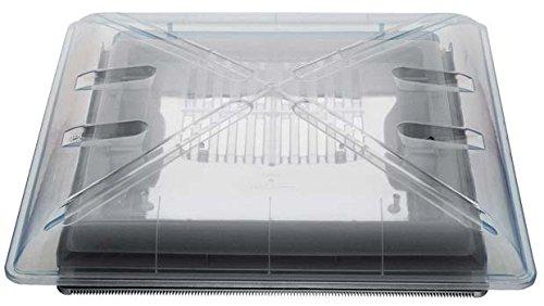 Preisvergleich Produktbild MPK Dachhaube Dachluke Modell 4600K transparent 40 x 40 cm mit Dauerbelüftung
